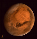 火星上空に巨大な謎の