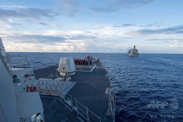米海軍の南沙諸島付近航行、中国「許可なく入ったと」非難