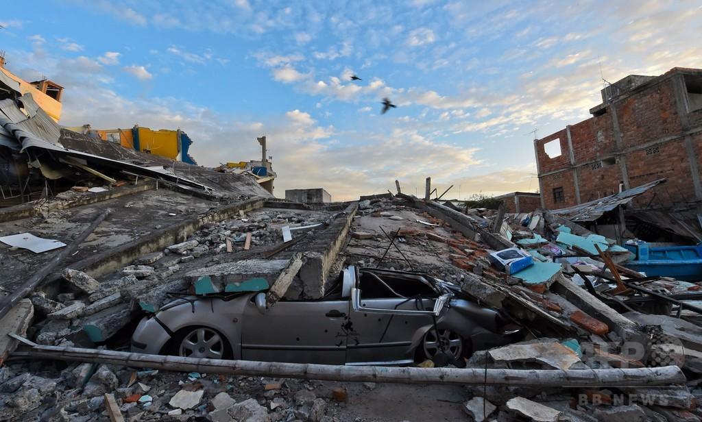 エクアドル地震、死者272人に 大統領「今後大幅に増加」