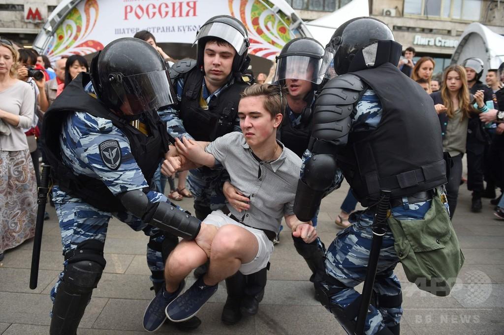 ロシア各地で反政府デモ、1500人超拘束 野党指導者を30日間拘留