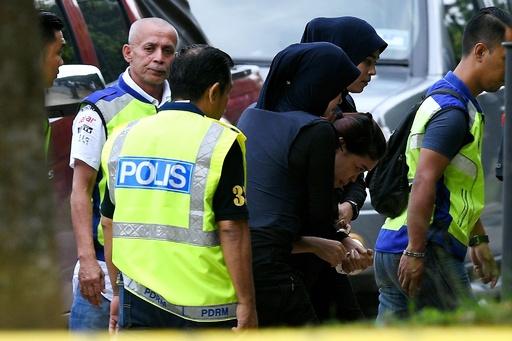 金正男氏暗殺事件の被告2人が出廷、マレーシア