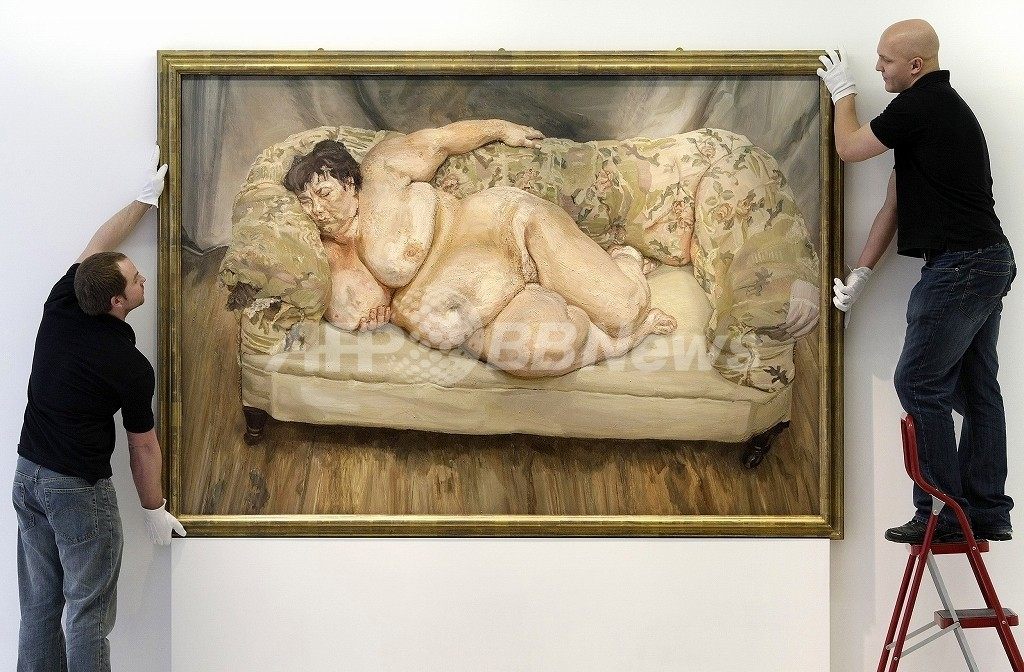 ルシアン・フロイドの裸婦像、存命中の画家の作品として史上最高価格で落札