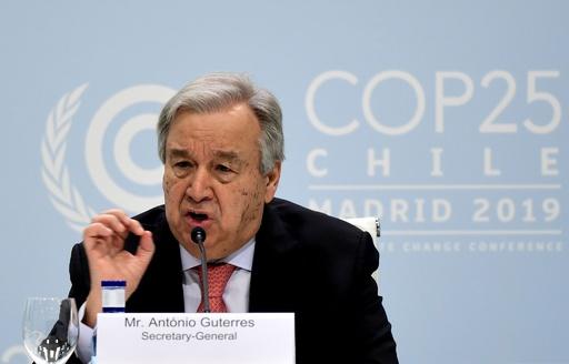 「温暖化は自然による人類への抵抗」 グテレス国連事務総長