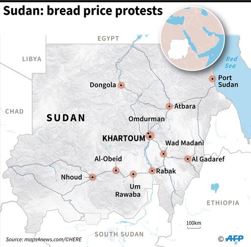 スーダンでパンの値上げに抗議、デモで19人死亡 記者らもスト突入