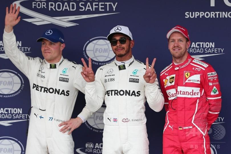 ハミルトン、鈴鹿で初のポールポジションをコース記録で獲得 日本GP