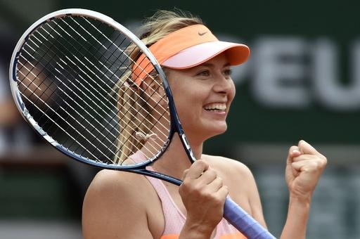 シャラポワが逆転!4年連続の準決勝へ 全仏オープン