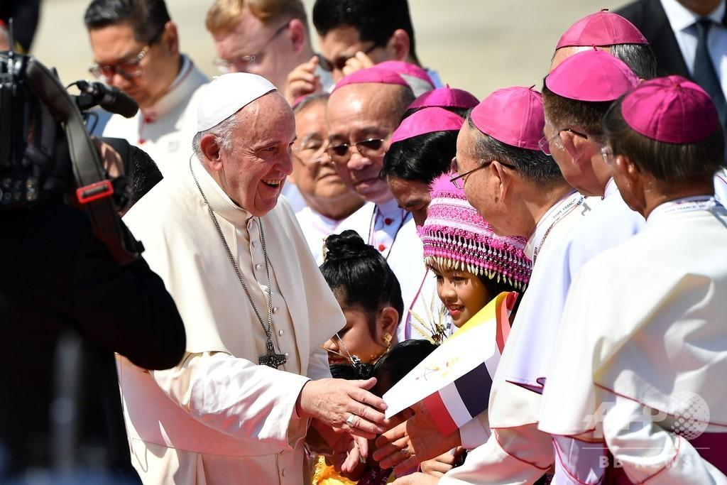 フランシスコ法王、タイに到着 今週末日本へ