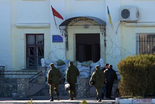 ロシア部隊がクリミアのウクライナ海軍基地を掌握