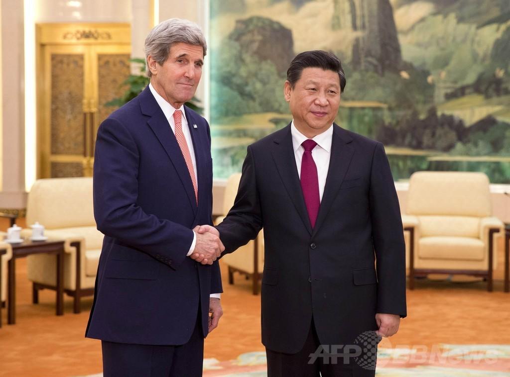 ケリー米国務長官が訪中、習主席らと会談