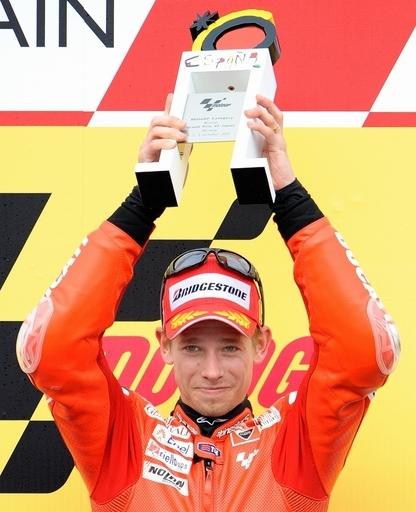 ストーナーが2連勝 青山は10位、日本GP
