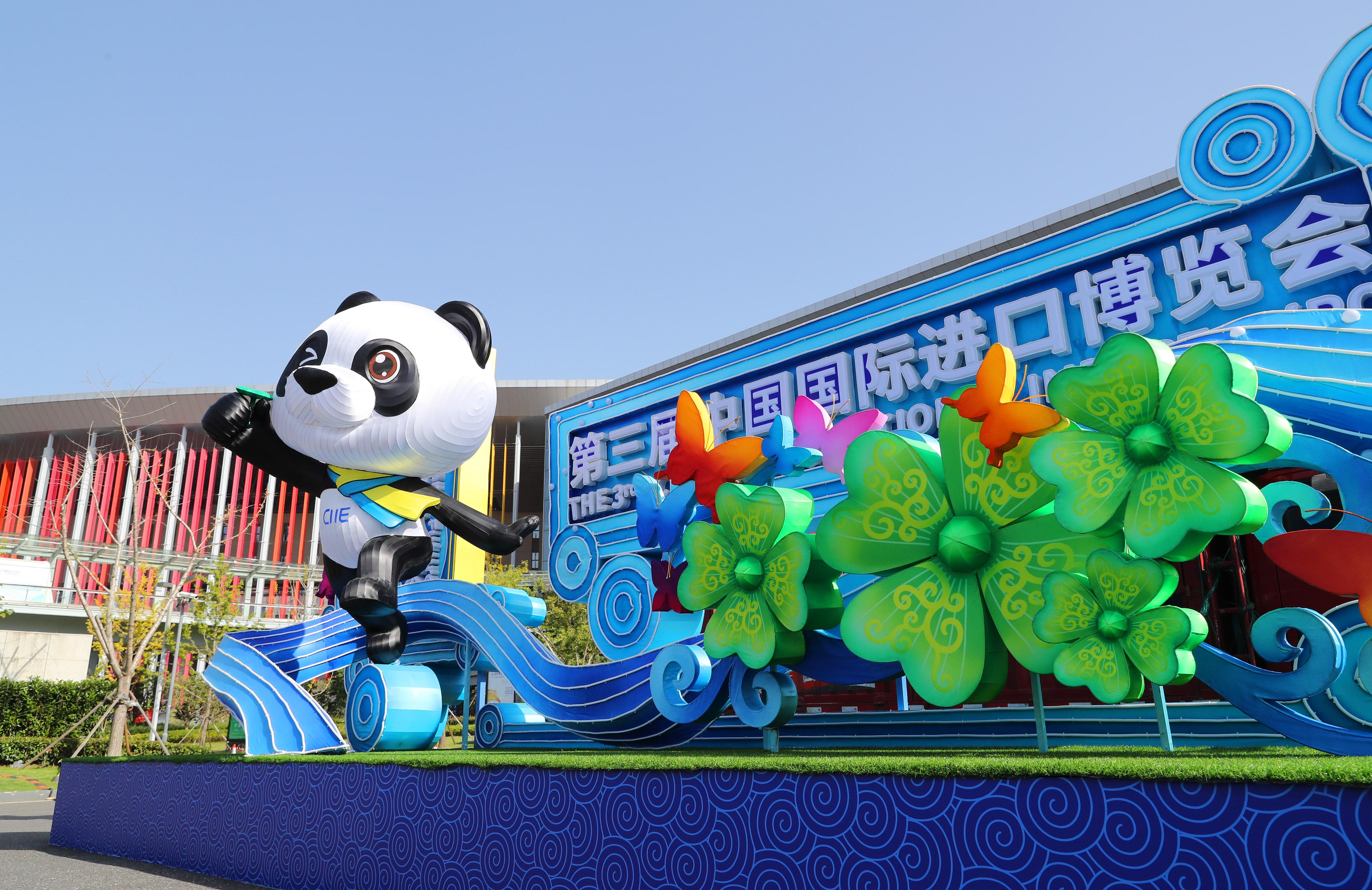 第3回輸入博の開幕間近 会場準備着々と 上海市