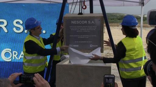 動画:ネスレ、キューバに3つ目の工場 着工式