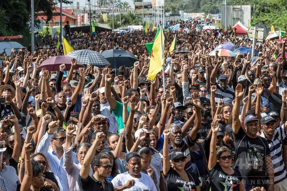 国際ニュース:AFPBB Newsロケット打ち上げても地元住民に照明なし、仏領ギアナでストとデモ