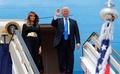 初外遊のトランプ米大統領、サウジアラビアに到着