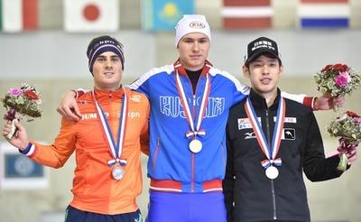 羽賀が男子500メートルで3位、スピードスケートW杯
