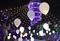 夜空に浮かぶ風船、江の島のイルミネーション 神奈川