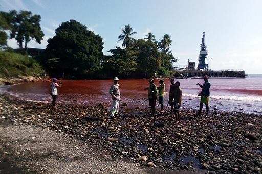 有害汚泥流出の中国工場、パプアニューギニアが閉鎖命令