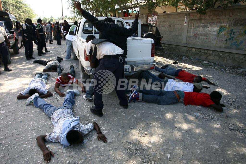 ハイチで大統領選の無効訴える大規模デモ