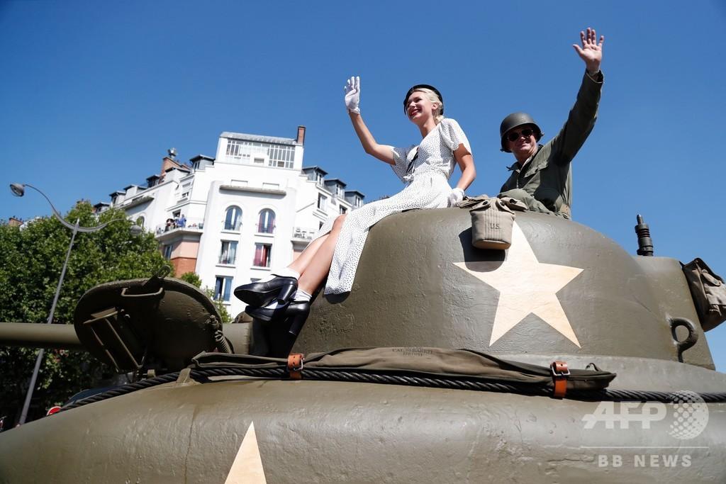 パリ解放75周年を祝い再現パレード、新博物館もオープン