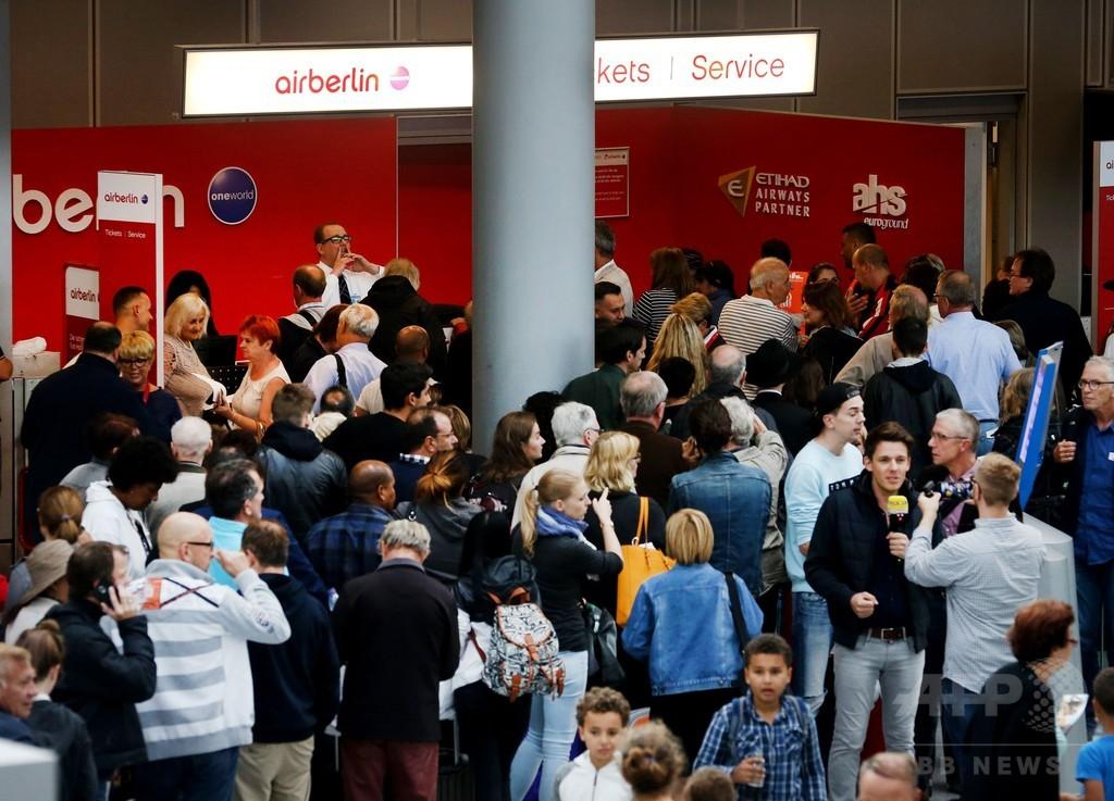 パイロット200人が「病欠」で100便欠航、破産申請の独エア・ベルリン