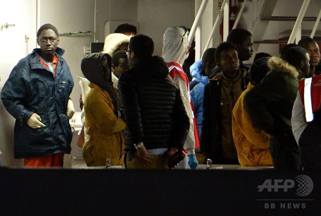 伊警察、転覆船の生存者2人を逮捕 船長と乗員か