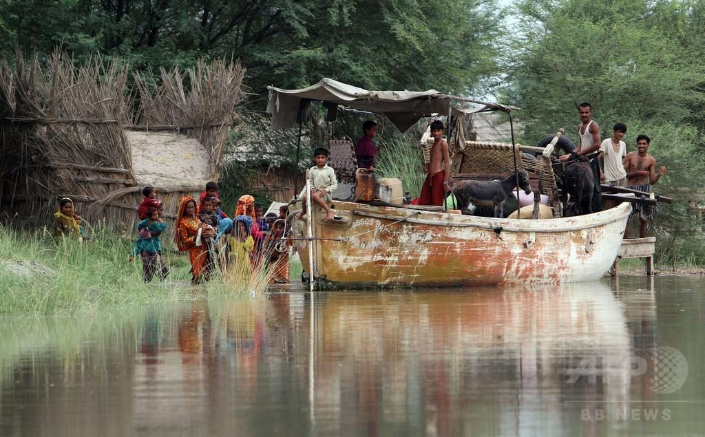 大雨と洪水で36人死亡、25万人以上に影響 パキスタン