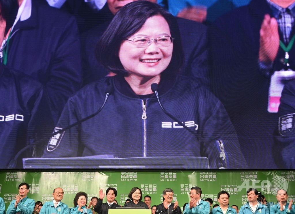 台湾総統・再選の蔡氏、過去最多得票 中国の圧力裏目に