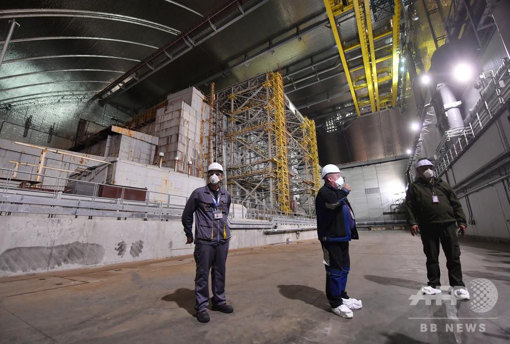チェルノブイリ原発4号機覆う巨大シェルター、正式稼動開始 ウクライナ