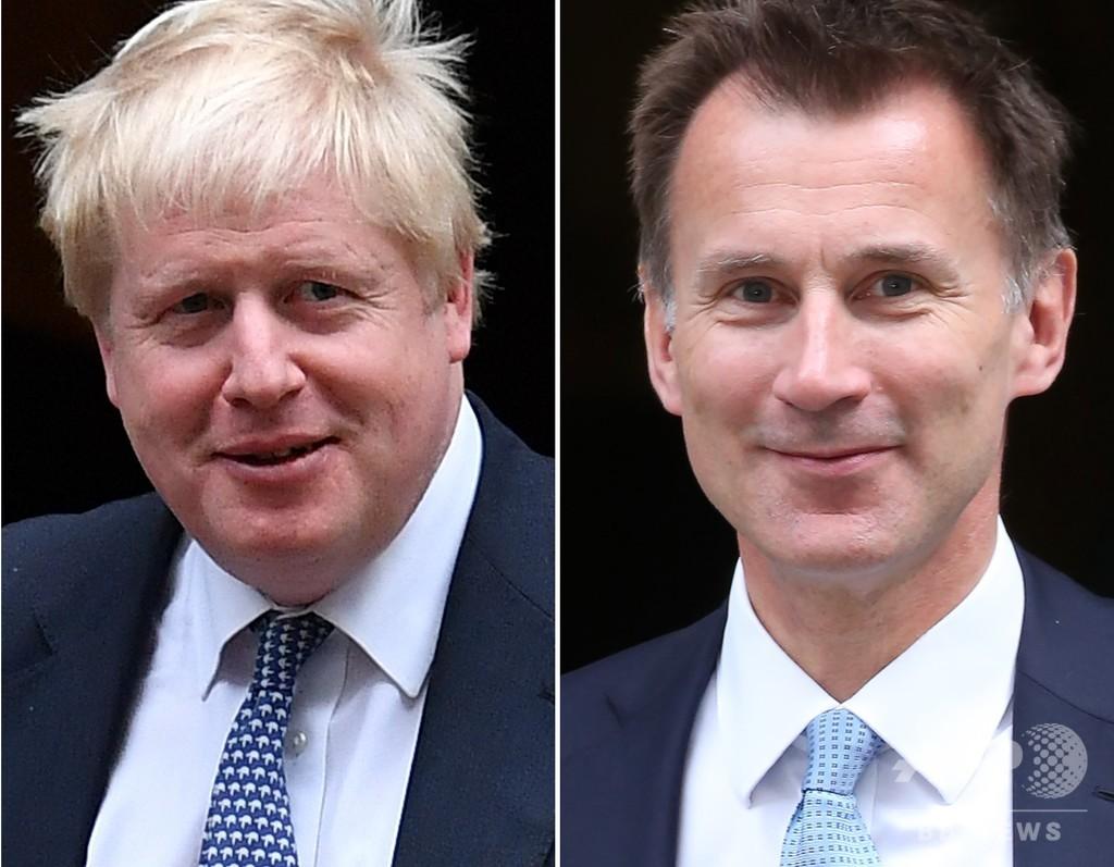 次期英首相争い ジョンソン、ハント両氏の一騎打ちに