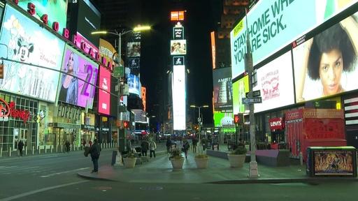 動画:静まり返る米国、新型コロナ感染拡大で