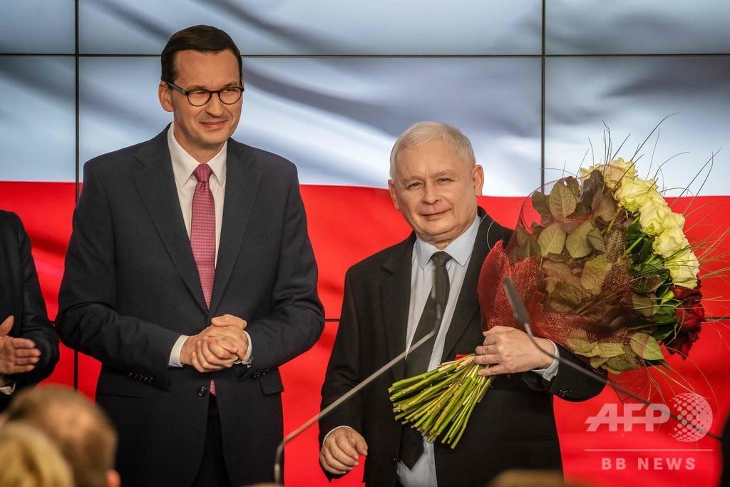 ポーランド総選挙、EU懐疑派の右派与党が過半数維持へ 出口調査