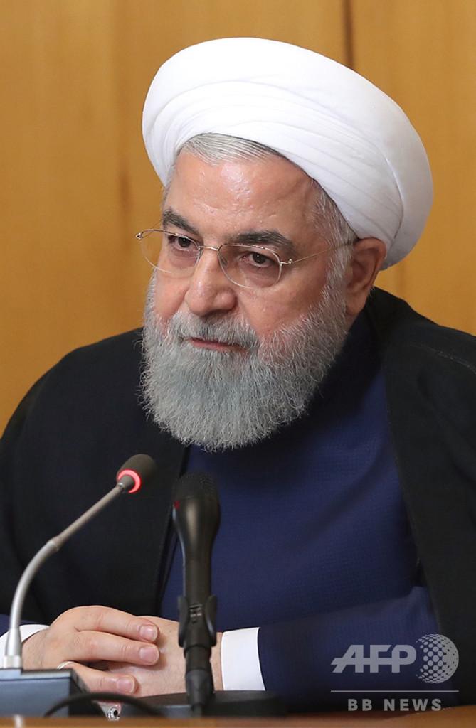 イラン大統領「米国との戦争望まない」、マクロン氏との会談で