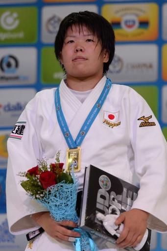 梅木が女子78キロ級で優勝、日本勢5つめの金 世界柔道