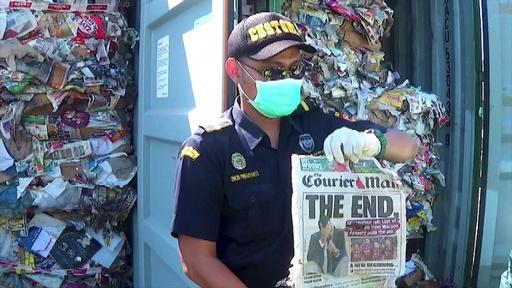 動画:インドネシア、豪から輸出されたごみ210トンを返送へ