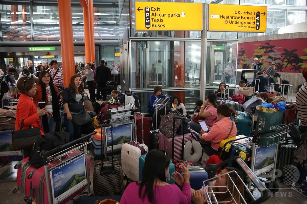 英航空会社でITシステム故障、ロンドン2空港発の全便運航中止