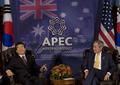 ブッシュ米大統領が北朝鮮との恒久和平の可能性を示唆