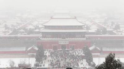 動画:雪化粧した北京 「ホワイトバレンタイン」にも期待