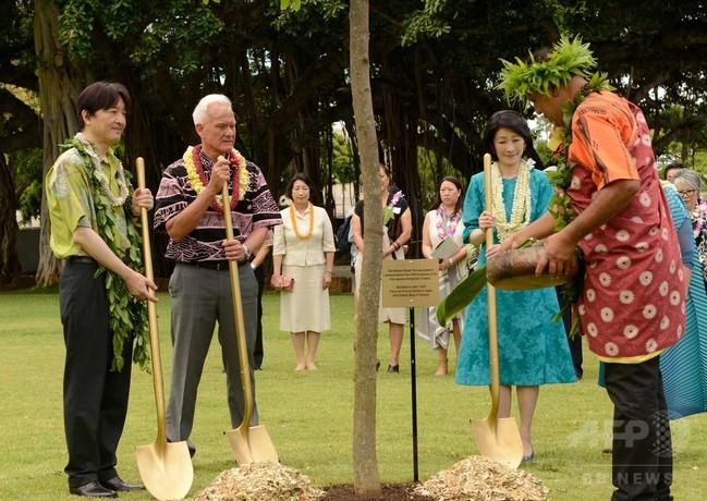 ハワイ訪問の秋篠宮ご夫妻、ホノルルで記念植樹