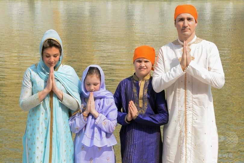 カナダ首相、インド公式訪問 家族と世界遺産やモスクへ