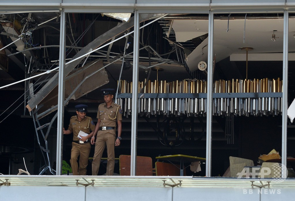 スリランカの連続爆発、死者数は外国人35人含む156人に