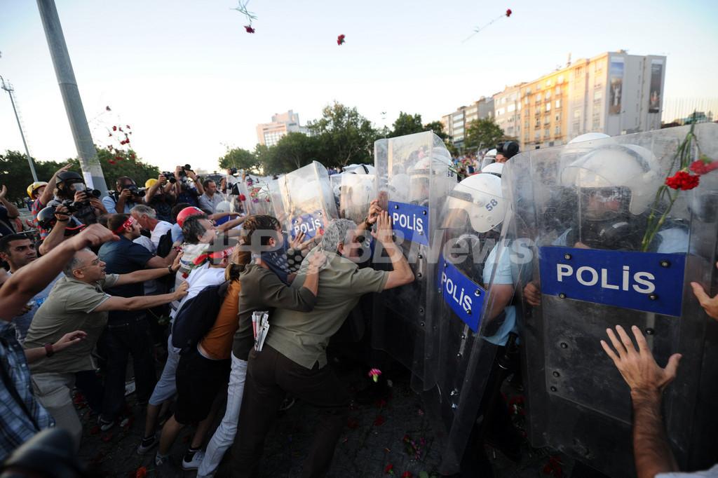 トルコの反政府デモを警官隊が再び排除、ドイツとの確執深まる