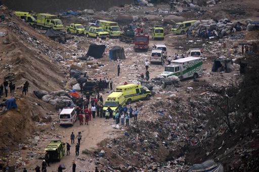 ごみ山が大規模崩落、4人死亡24人不明 中米グアテマラ