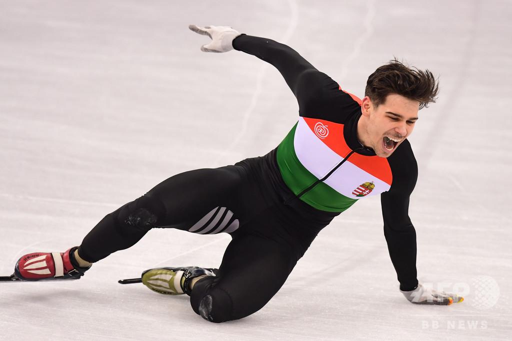 ハンガリー人スケート選手、中国「差別」発言で1年間出場停止に