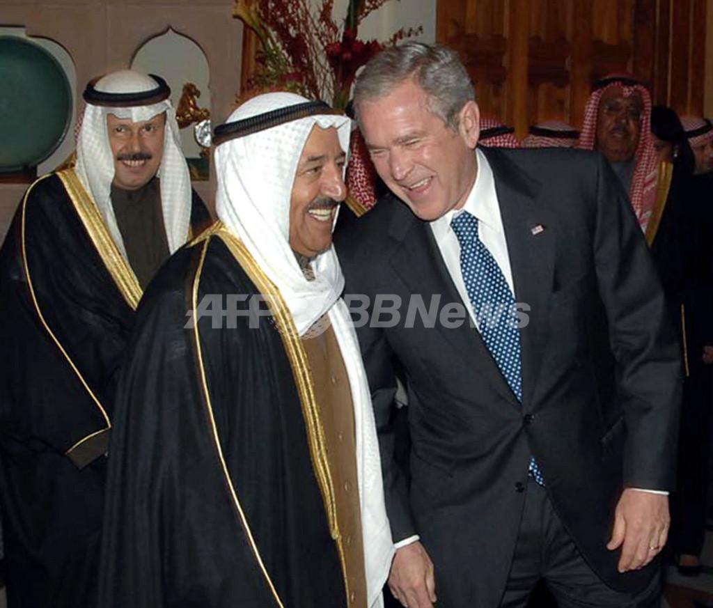 ブッシュ米大統領、クウェートに到着