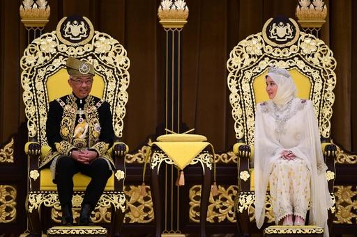 マレーシア、アブドラ国王の戴冠式 今年1月に即位