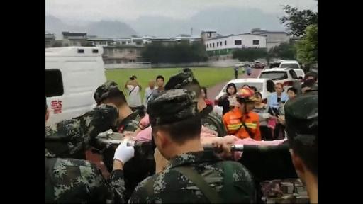 動画:中国・四川省でM6.0の地震、12人死亡 134人負傷 被災地の映像