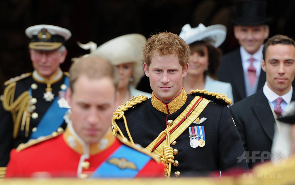 英ヘンリー王子、結婚式の付添人を兄ウィリアム王子に依頼