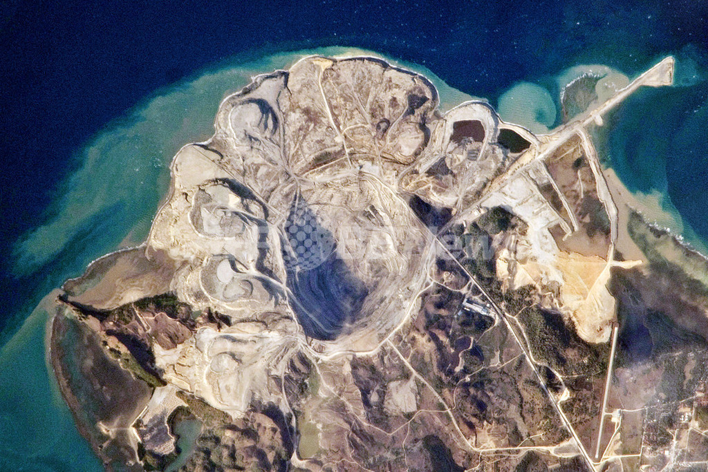 衛星から見たフィリピンの炭田、NASA
