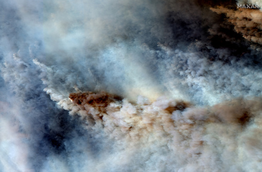 豪森林火災の煙、南米ブラジルにまで到達