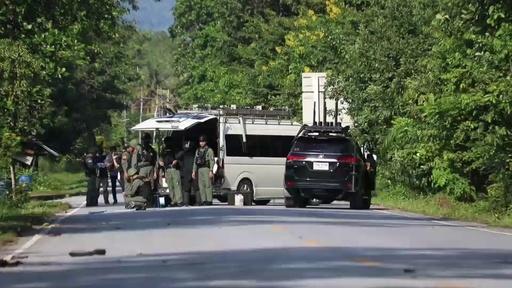 動画:タイ南部で検問所襲撃、15人死亡 イスラム武装勢力か